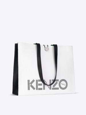 94ae8ba848f51 KENZO H&M Duża torba shopper ze skóry ! - 6597538389 - oficjalne ...
