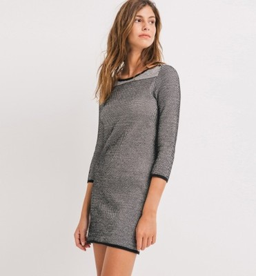 7314be7115 Promod sukienka dzianinowa szara jesień zima 38 M - 6592004904 ...