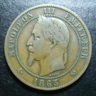 10 centimes 1863 K Napoleon III FRANCJA
