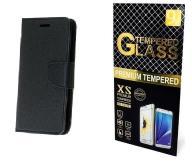 Case Etui Fancy +Szkło Huawei Mate 9 | Czarny