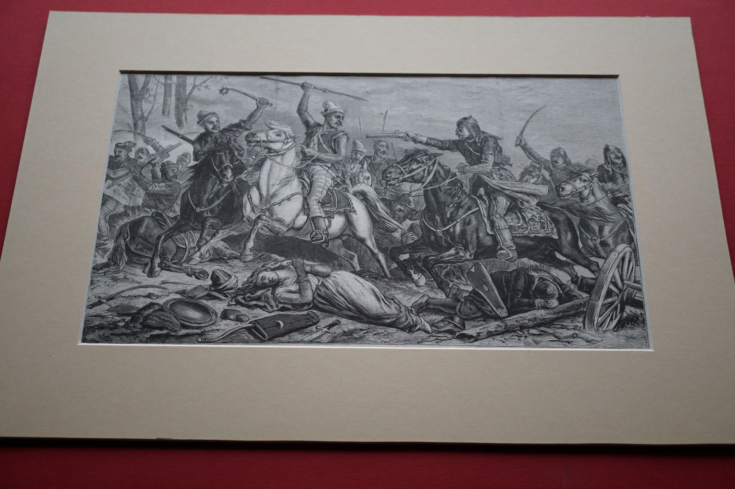 SYPNIEWSKI F.: Pogoń za Tatarami. Drzeworyt, 1882.
