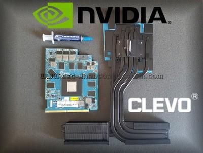 GPU NVIDIA GTX 1080 MXM HEATSINK VGA CLEVO PASCAL