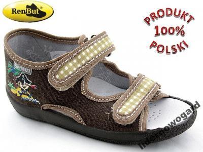 13fbf541 CHŁOPIĘCE kapcie DZIECIĘCE obuwie domowe RENBUT 23 - 3103419582 ...