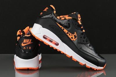 Nike Air Max 90 Fb Gs 705392 002 | Czarny, Pomarańczowy
