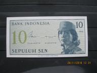 112. Banknot Indonezja 10 sen UNC