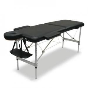 Stół, łóżko do masażu + Torba Czarne Aluminiowe