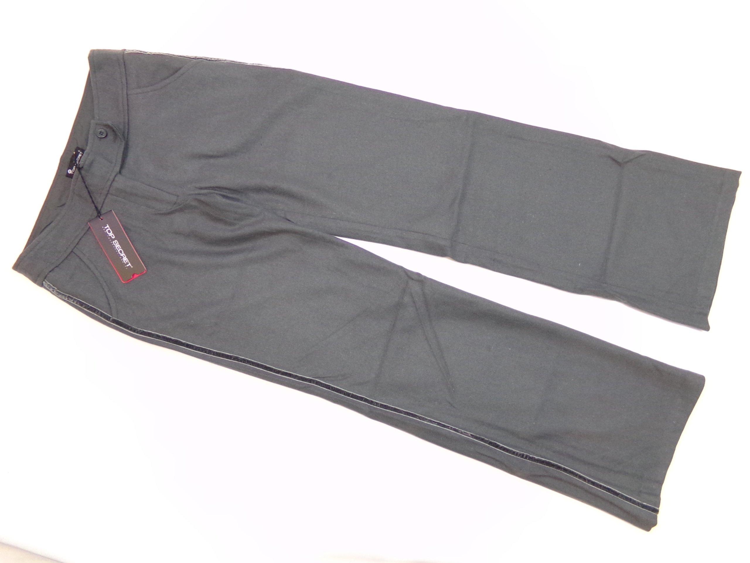 6e8e31468393f 170 Szare wełna spodnie damskie TOP SECRET roz M - 7060463882 ...