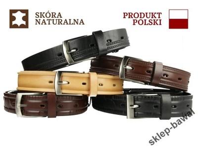 50ab2ffbb2d3f8 POLSKI GARNITUROWY SKÓRZANY PASEK MĘSKI DO SPODNI - 5950855333 ...