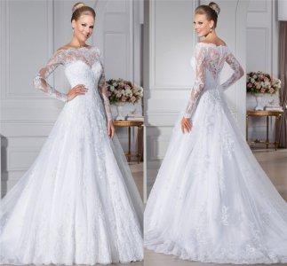 Suknia ślubna Koronka Długi Rękaw Cudna 6276115044 Oficjalne