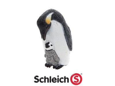 Schleich Pingwin Cesarski - Samica z młodym 14632