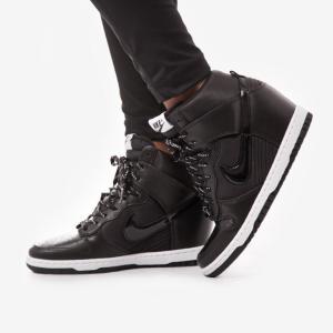 Nike Sportswear DUNK SKY HI Botki na koturnie czarny