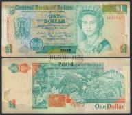 MAX - BELIZE 1 Dollar 1990 r. # F