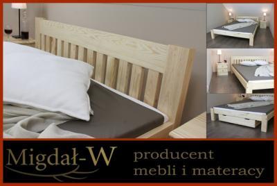 Migdał Łóżko drewniane Torino 160 -  37 kolorów