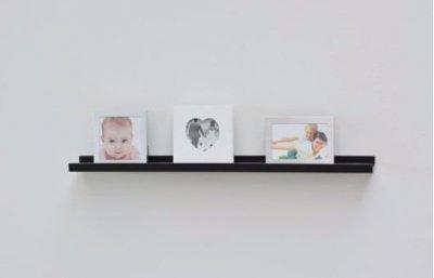 Czarna Półka Na Obrazy Zdjęcia Plakaty 80cm