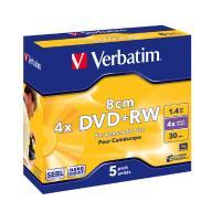 Płyty mini DVD+RW Verbatim 2x 1.4GB 5P JC 5sztuk