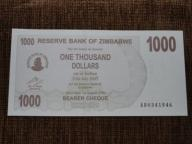 828.ZIMBABWE 1000 DOLARÓW UNC-
