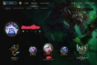 Konto League of legends Platyna 3 / gold 2
