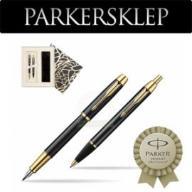 Zestaw Parker pióro + długopis IM Czarny GT 106U