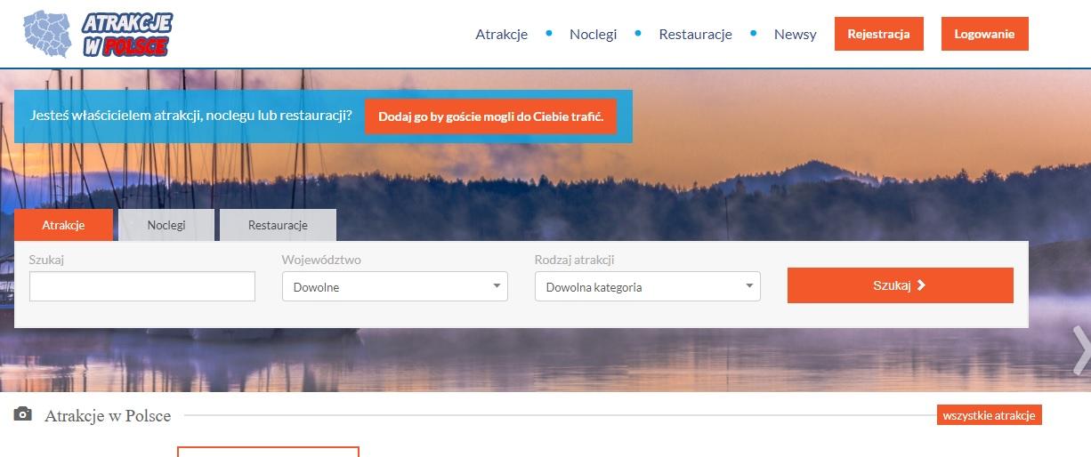 Serwis internetowy, portal - AtrakcjewPolsce.pl