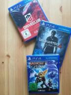 Uncharted 4 Ratchet & Clank Driveclub PS4 NOWE