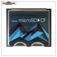 Adapter 2x MicroSD do CF Type I dual do 128GB