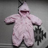 68 REIMA kombinezon niemowlęcy różowy zimowy