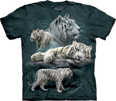 bc07d50b6 THE MOUNTAIN Koszulka White Tiger Collage @ XL - 6982914963 ...