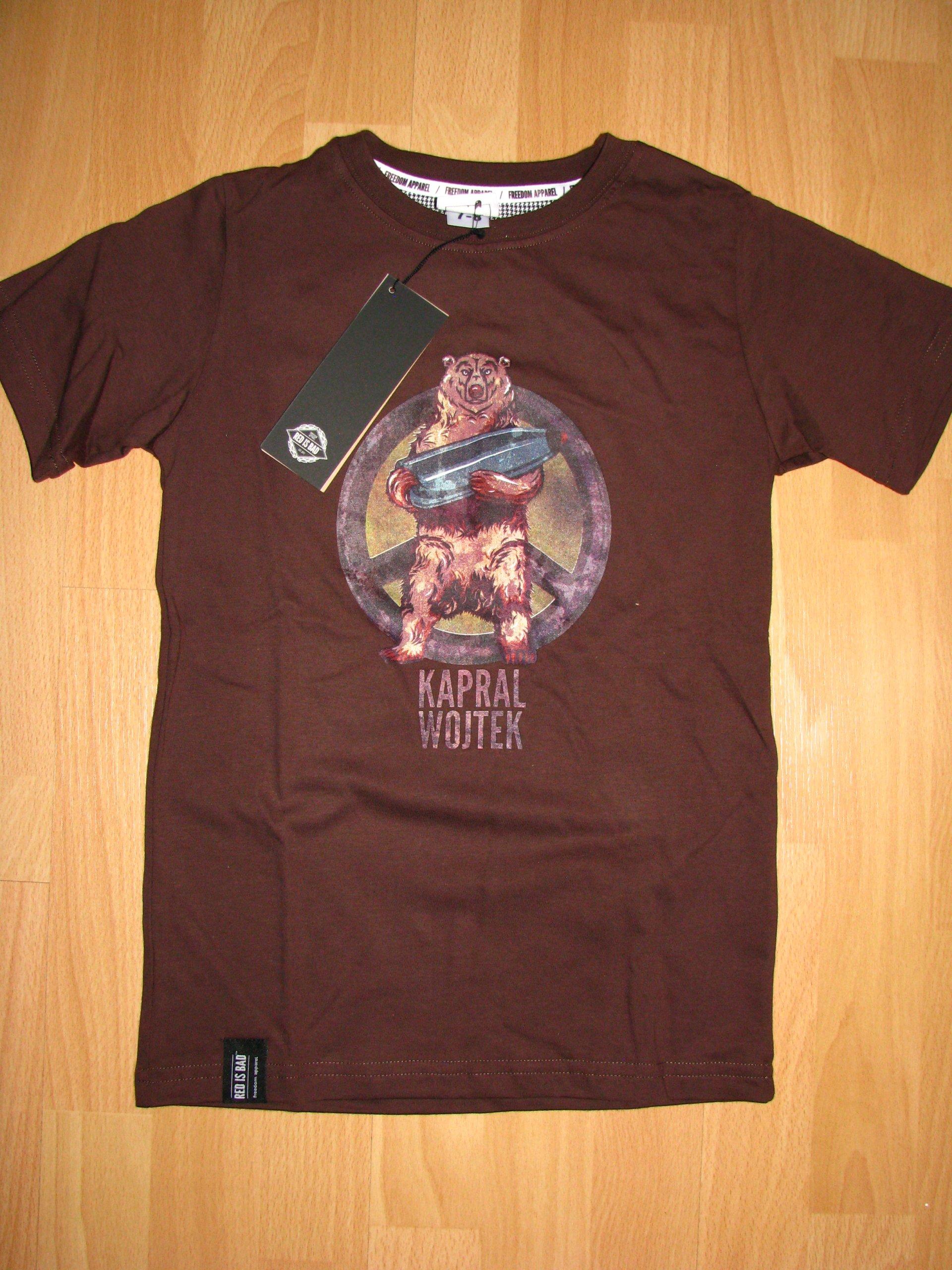 e22d8e60cc9346 RED IS BAD koszulka dziecięca Miś Wojtek 11-12 l - 7062337454 ...