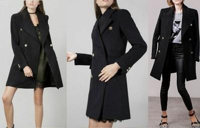 płaszcz militarny damski zara