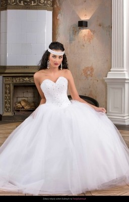 45dc66e542 Suknia Ślubna Princessa Milano + bolerko 40 - 6613766806 - oficjalne ...