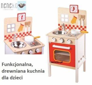 Drewniana Kuchnia Dziecięca Akcesoria Kuchenka 6367846542
