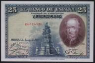Hiszpania - 25 peset - 1928 - stan bankowy UNC