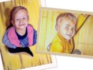 Portrety ze zdjęcia A3 1 lub 2osoby + ramka