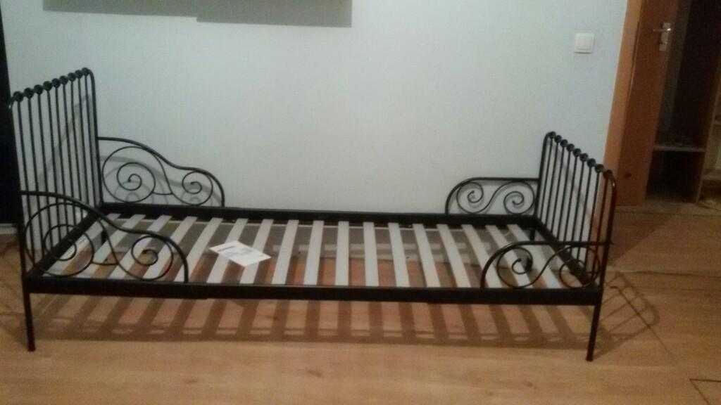 Minnen łóżko Regulowane Ikea Kraków