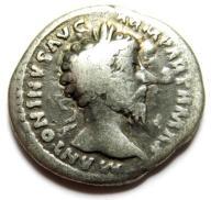 AC- MAREK AURELIUSZ (161-180), denar, AEQUITAS