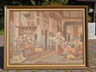 Duży obraz gobelin arras