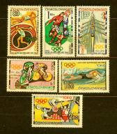 CZECHOSŁOWACJA** Olimpiada Tokio Mi 1488-93