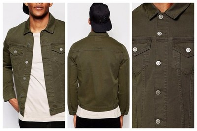 mn6 katana kurtka jeansowa khaki slim jeans XS