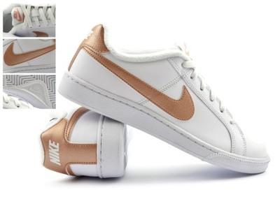 Buty Damskie Nike Court Royale 37,5 41 biało złote