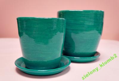 Doniczka Ceramiczna Mała 10 Cm Turkusowa