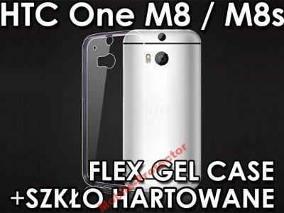 WYPRZEDAŻ Etui Gumowe HTC One M8s +SZKŁO Hartowane