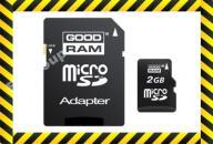 NOWA KARTA PAMIĘCI micro SD 2GB + ADAPTER SD