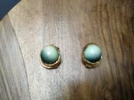 Klipsy morski zielony złoty z USA - -bcm- -