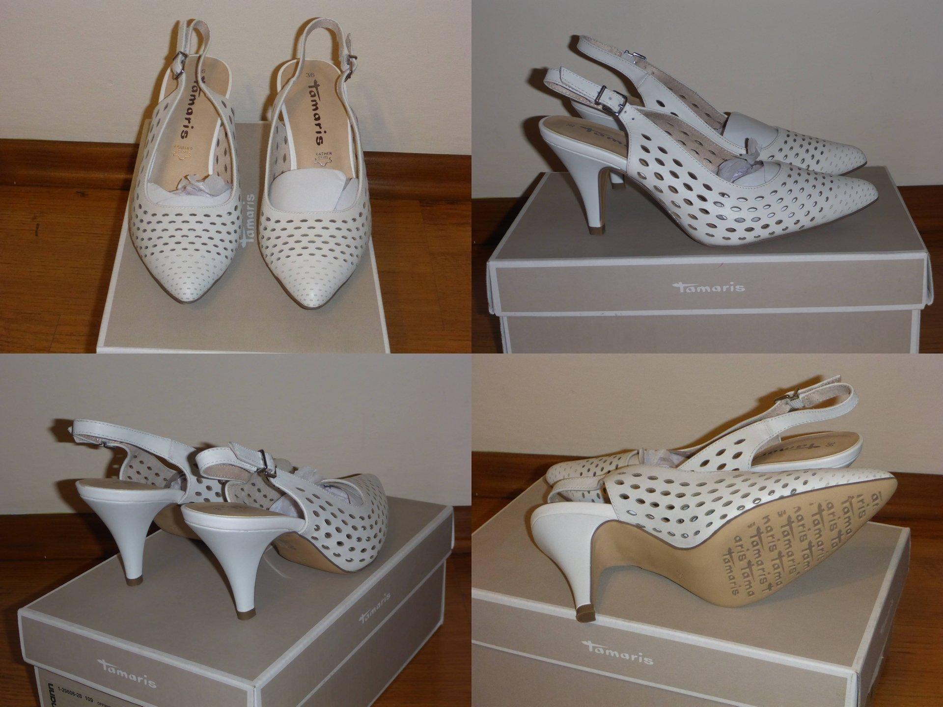 Nowe sandały na obcasie TAMARIS - Arabela offwhite