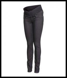 176923b2b7a584 H&M MAMA spodnie ciążowe niski pas czarne 40 L - 6579069793 ...