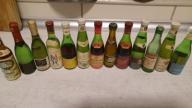 Miniaturki butelek z winem kolekcja