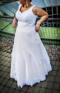 Suknia ślubna Rozm 4446 Dla Wysokiej Dziewczyny 5330535904