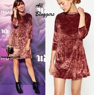Luksusowa Aksamitna Sukienka ZARA Bloggers XL