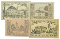 25.cp.Austria, Zest.Banknotów szt.4, St.1-