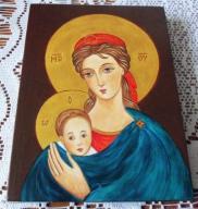 Matka Boża Nadziei,ORYGINAŁ, ikona pisana- okazja